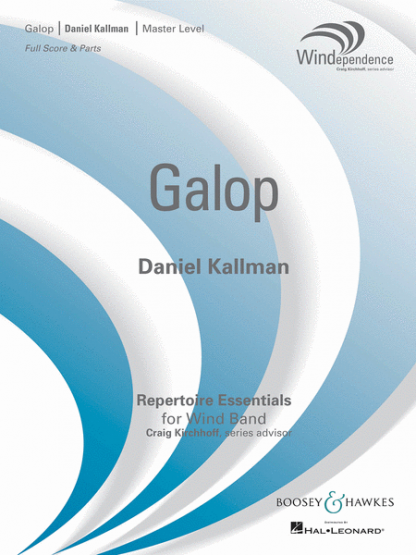 """Galop"" by Daniel Kallman for wind ensemble."