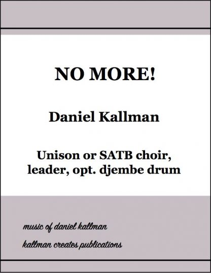 """No More!"" by Daniel Kallman"